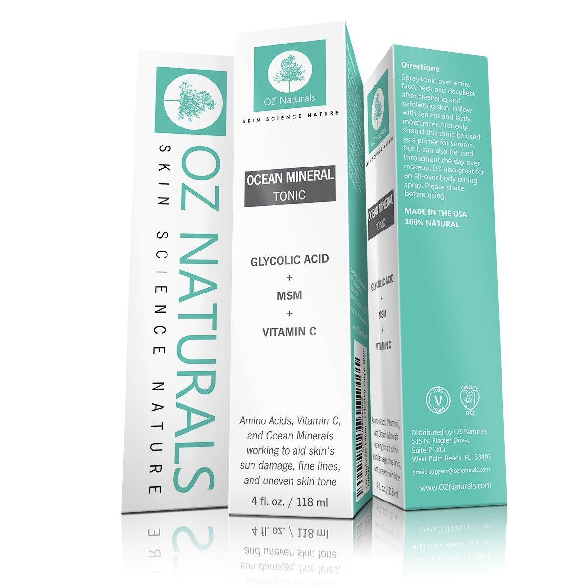 OZ Naturals Facial Toner #toneroznaturals