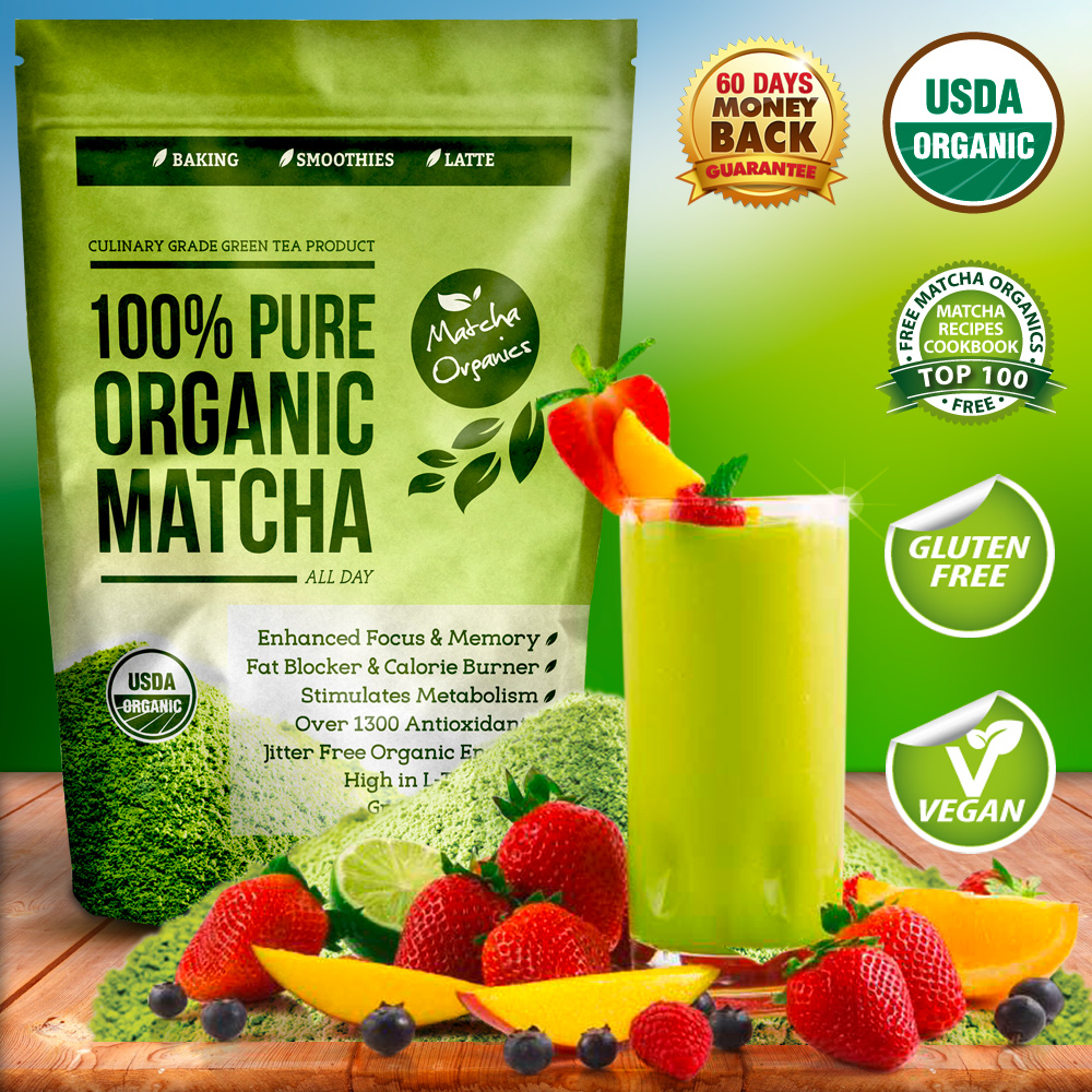 Organic Matcha Culinary Green Tea Powder