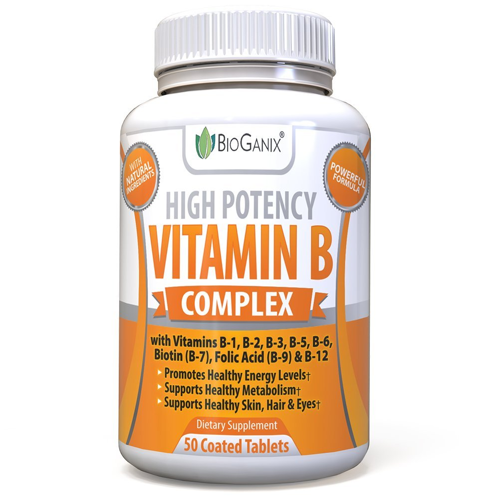 2 High Potency Vitamin B Complex 100 Supplement