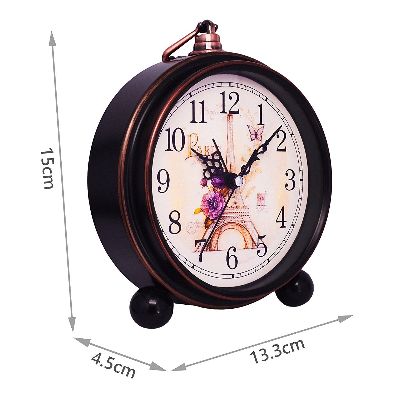Vintage Quiet Non ticking Sweep Second Hand Desk Clock