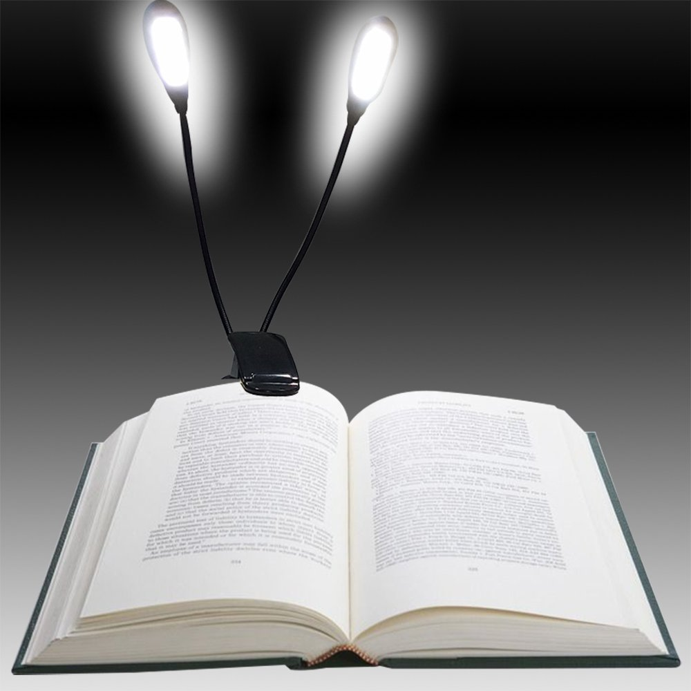 2 Rechargeable Extra Bright 8 Led Book Light
