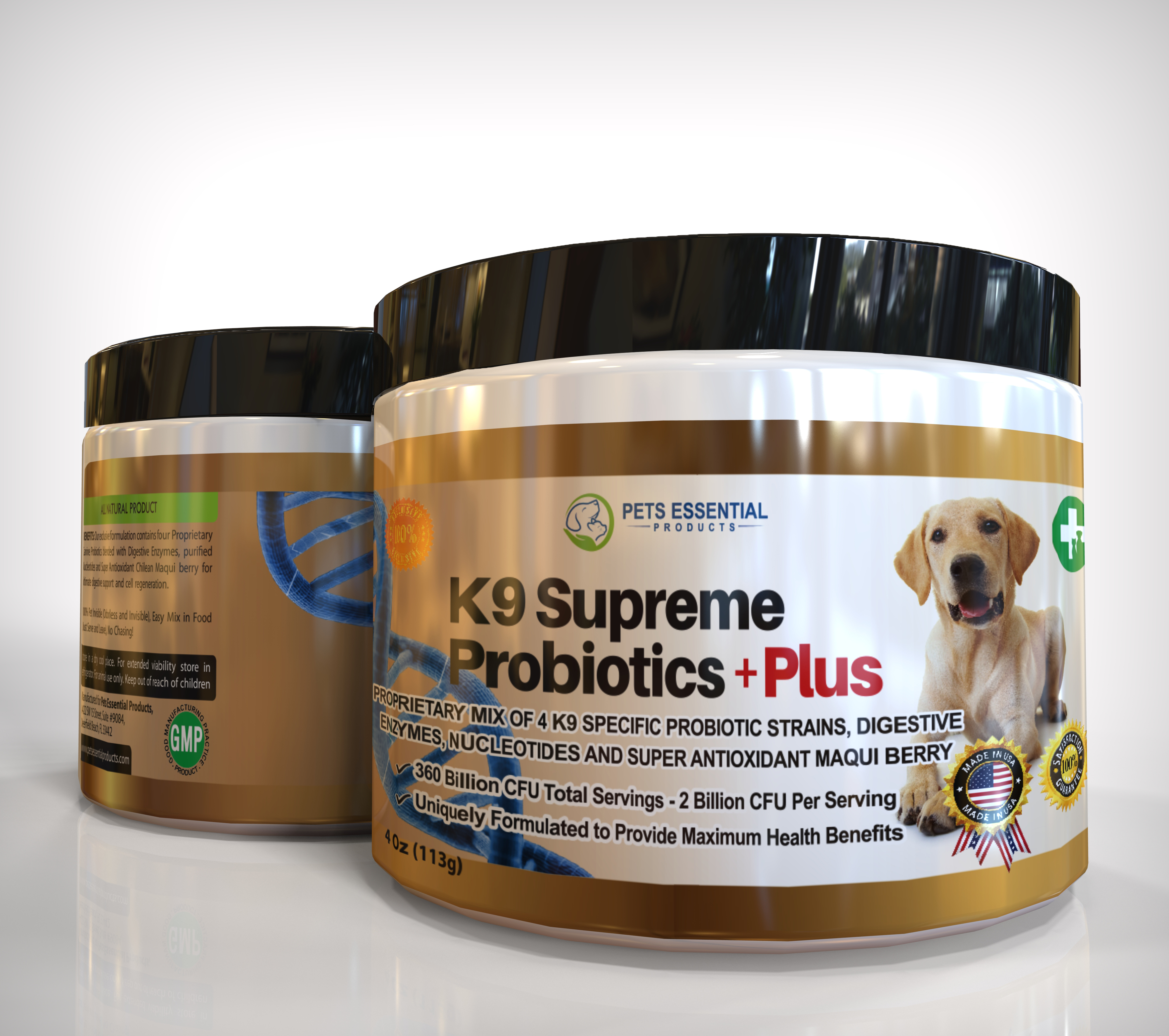 k9 supreme probiotics + plus for dogs dog puppy puppies
