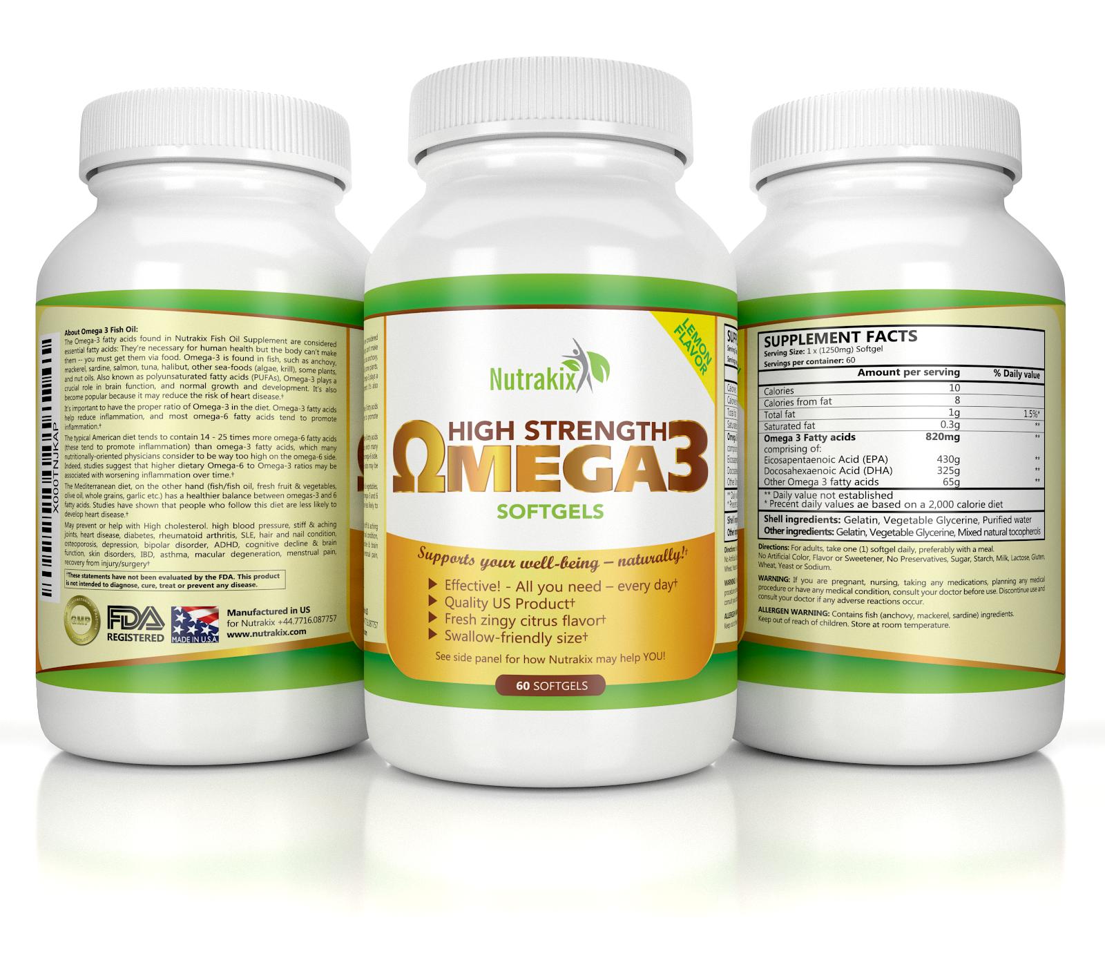 Nutrakix omega 3 for Fish oil depression dosage