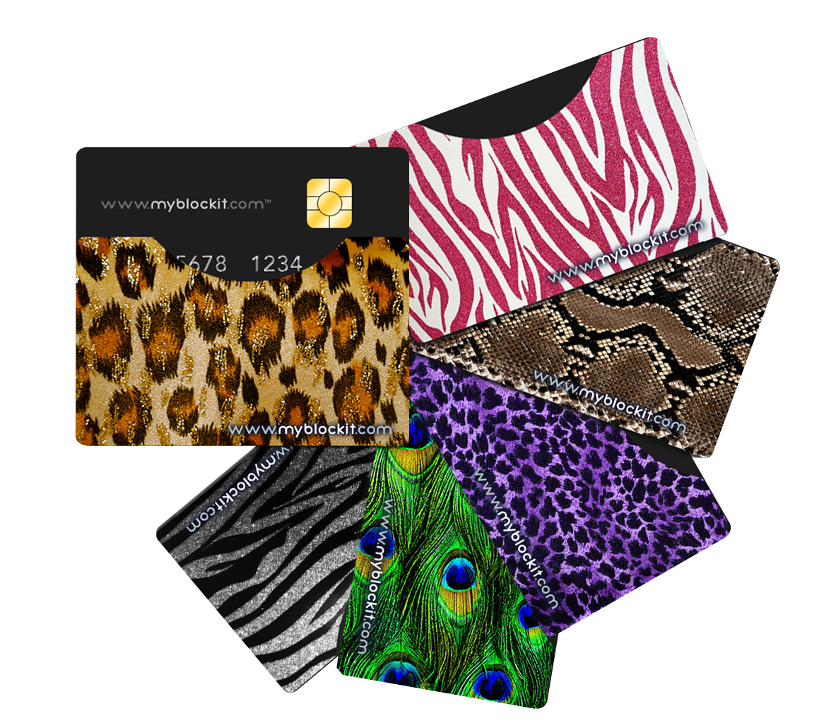 #Blockit RFID Blocking Sleeves - Jungle Bling