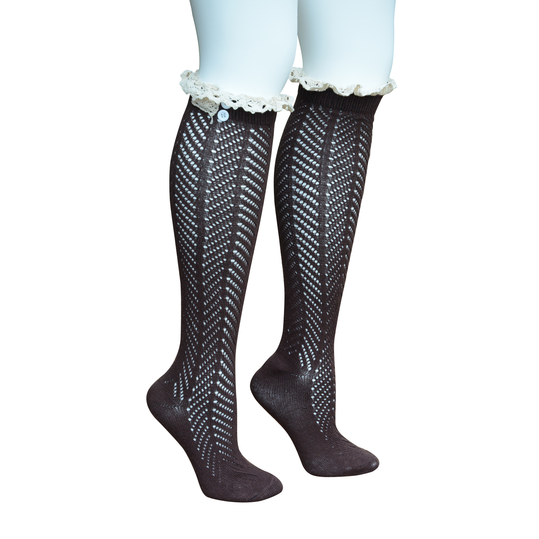 the qutee s boot socks knee high socks leg