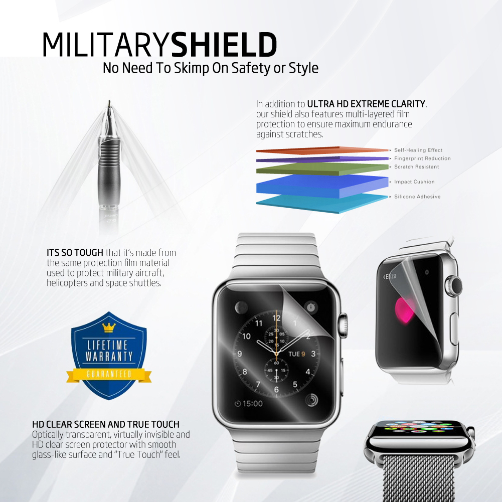 Apple Watch Cases + a Screen Shield by XindInc #applewatchaccessories