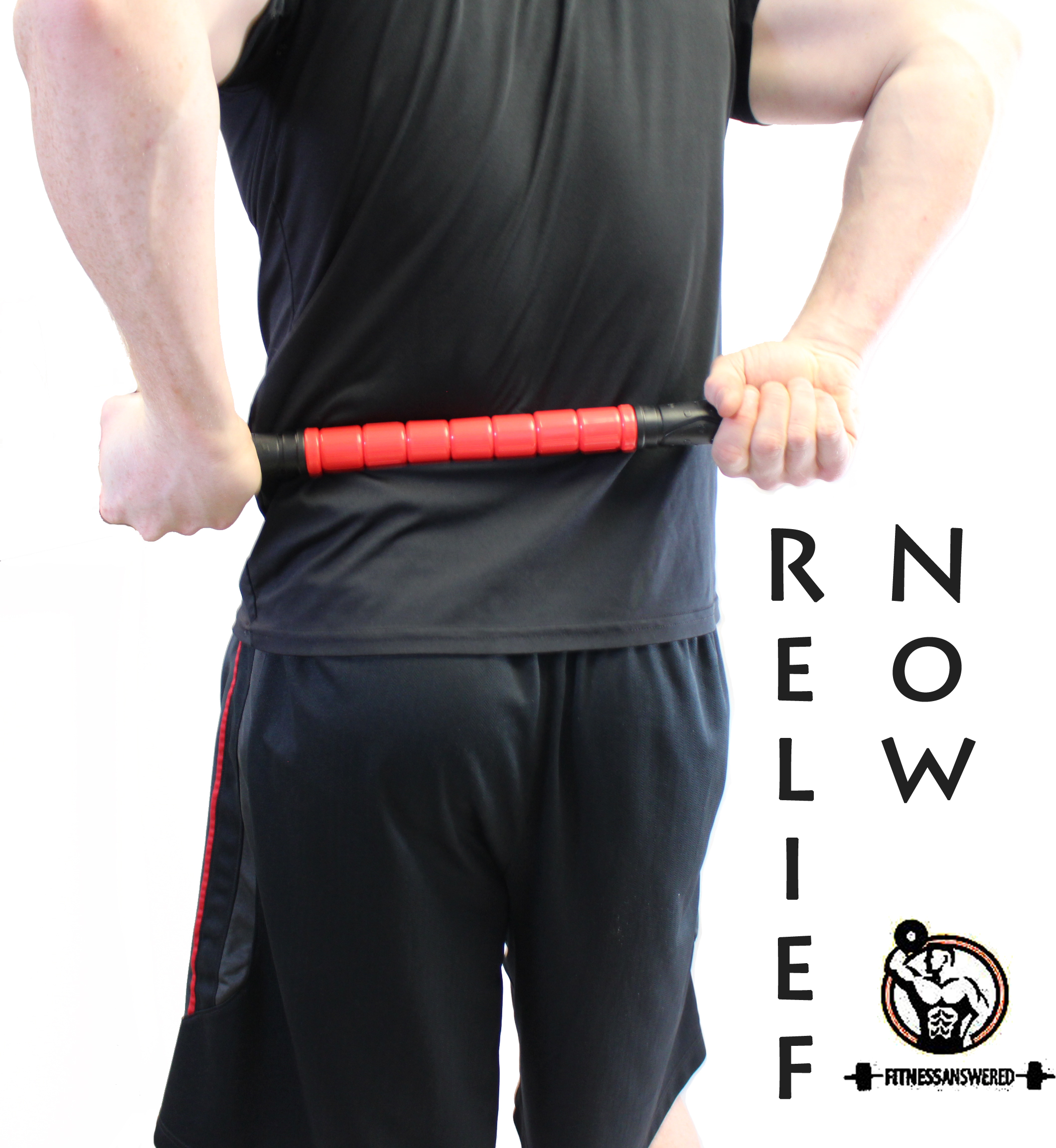 The Massager Stick - Massage Roller -Better Than Foam Roller - Deep Tissue Natural Muscle Recovery - Trigger Point Relief Of Myofascial Soreness - No Flex Perfect Pressure