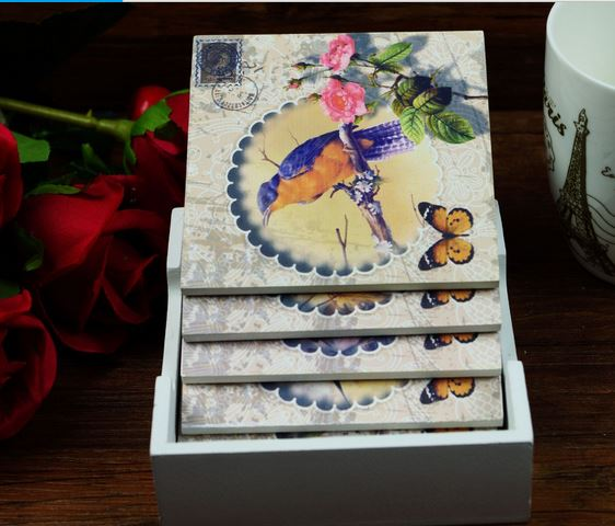 Set Of 6 Designer Drink Coasters With Holder Review