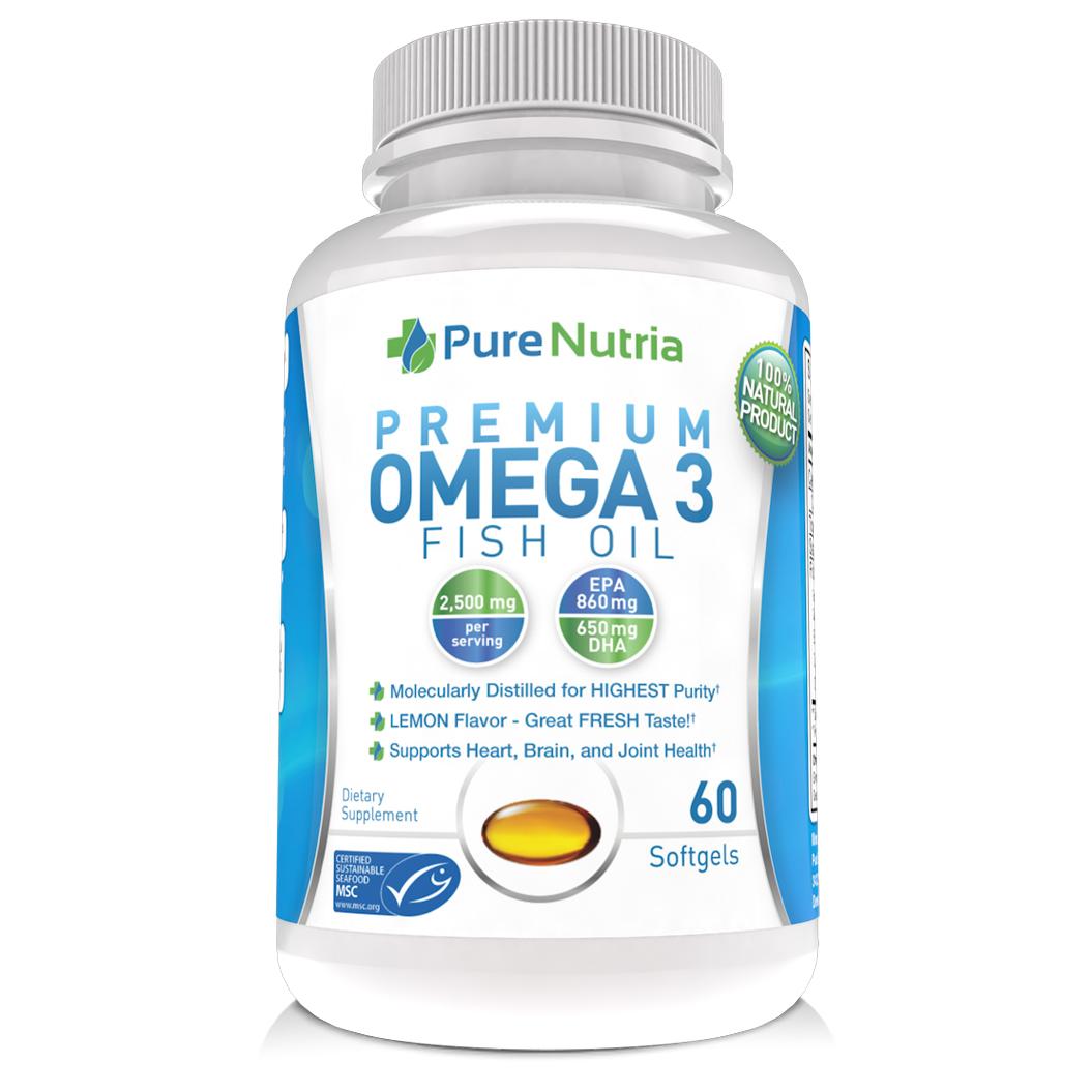 PureNutria - Premium Omega 3 Fish Oil #purenutriaomega3
