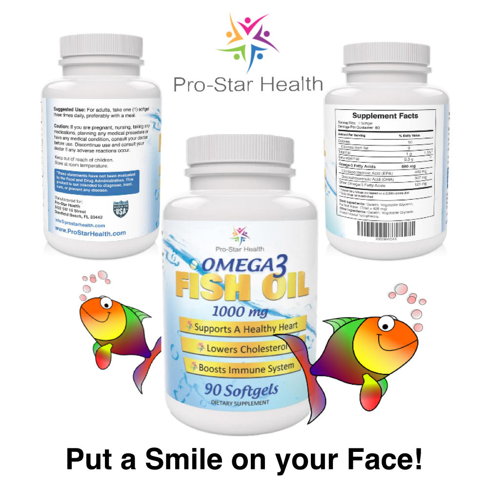 Pro star health omega 3 fish oil supplements review for Pro omega fish oil