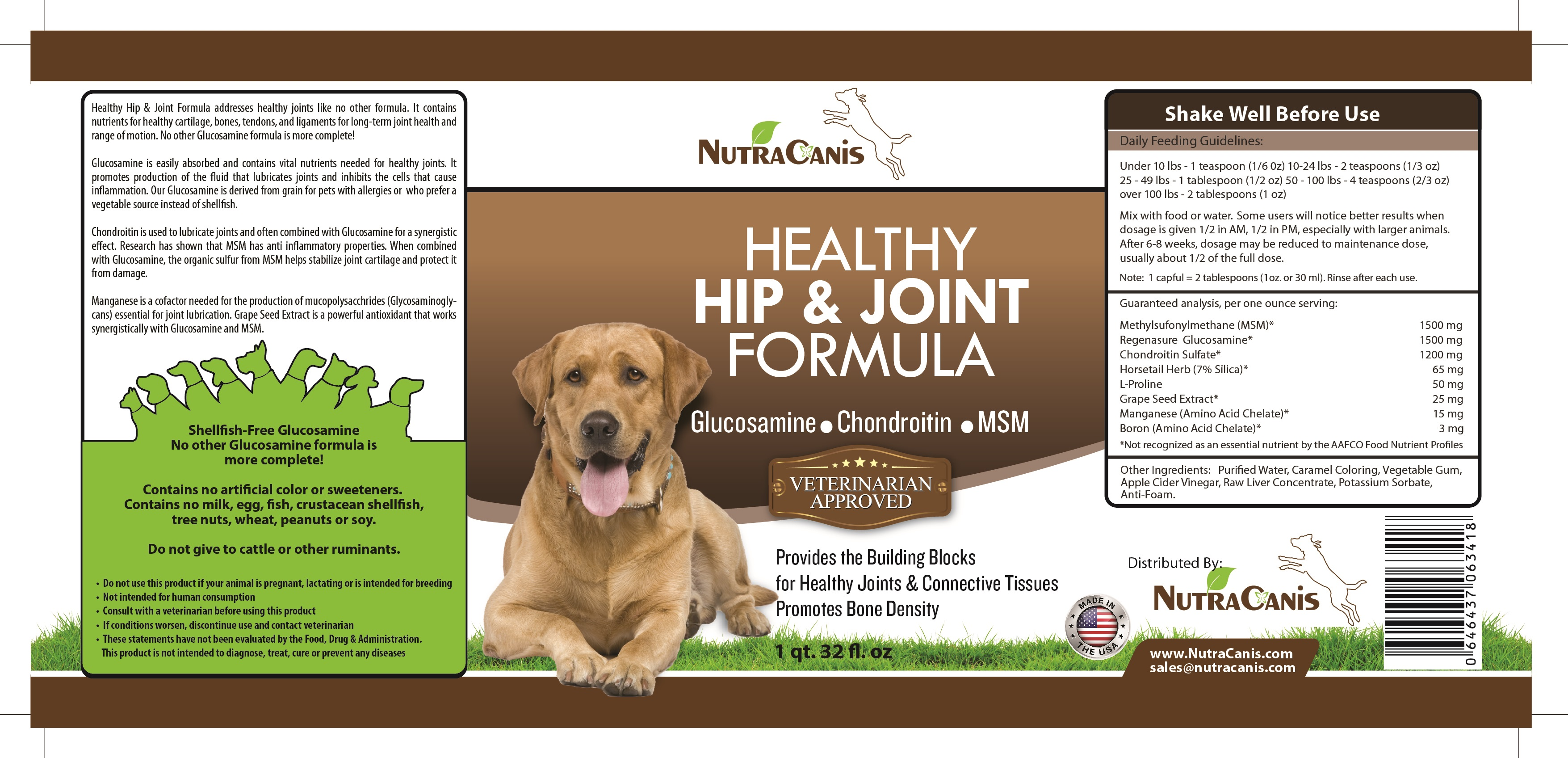 Healthy Hip & Joint Formula for Dogs by #NutraCanis