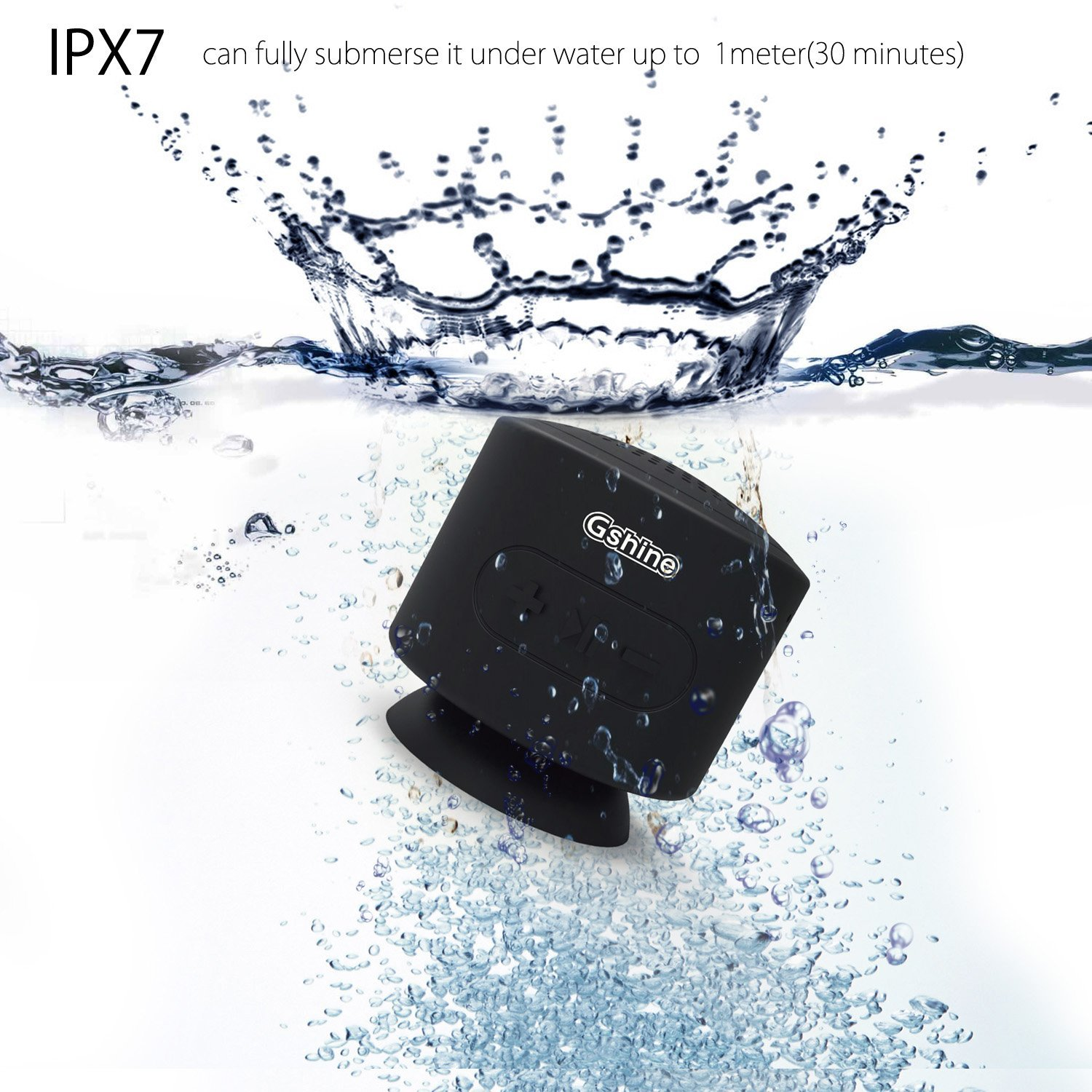 Gshine 8 Watt IPX7 Waterproof Bluetooth Speakers #grAS