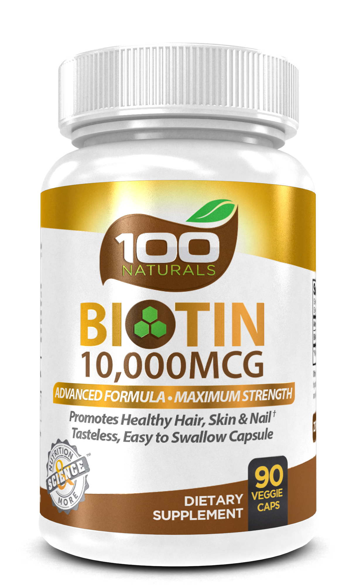 Maximum Strength #Biotin for Hair, Skin, and Nails from 100 Naturals