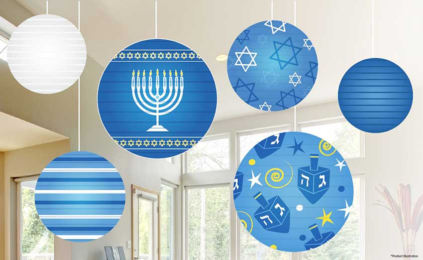 Cassandra M S Place Hanukkah Ball Lantern Decoration