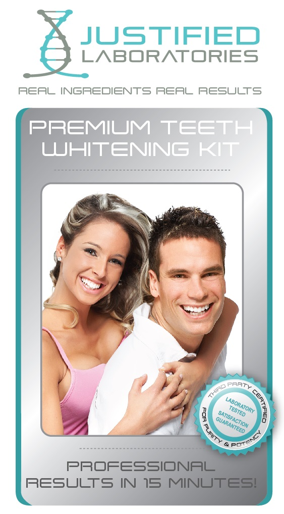 Justified Laboratories teeth whitening products