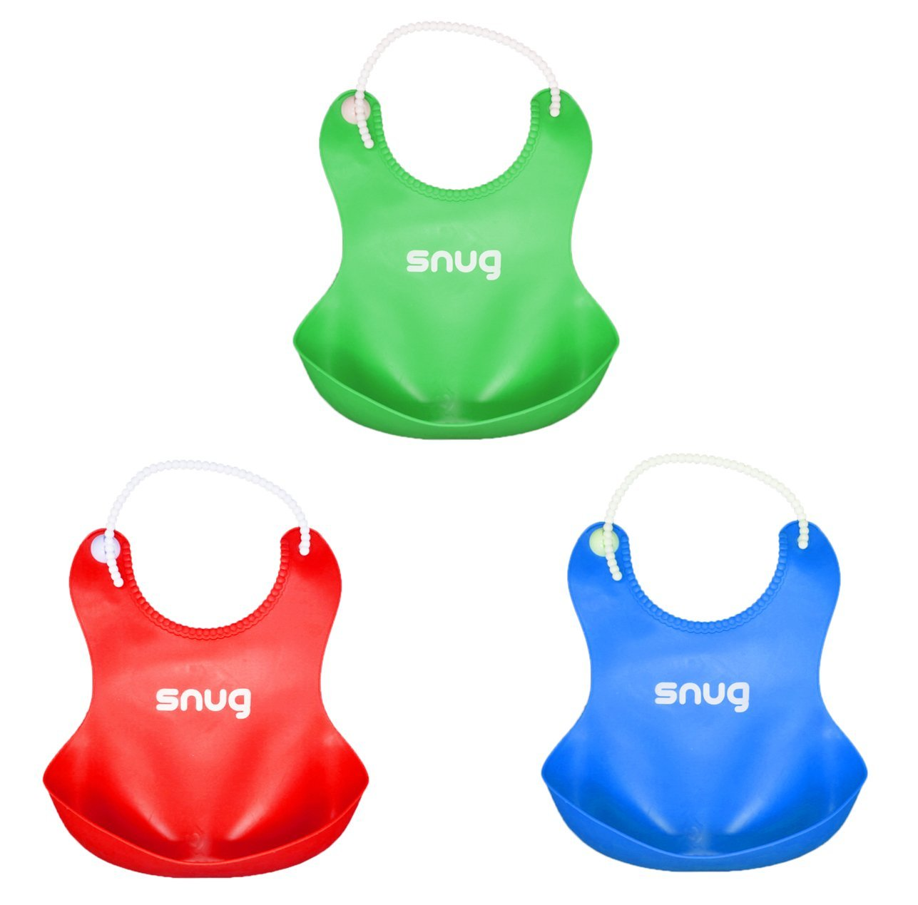 Snug Silicone Baby Bibs 3 Pack