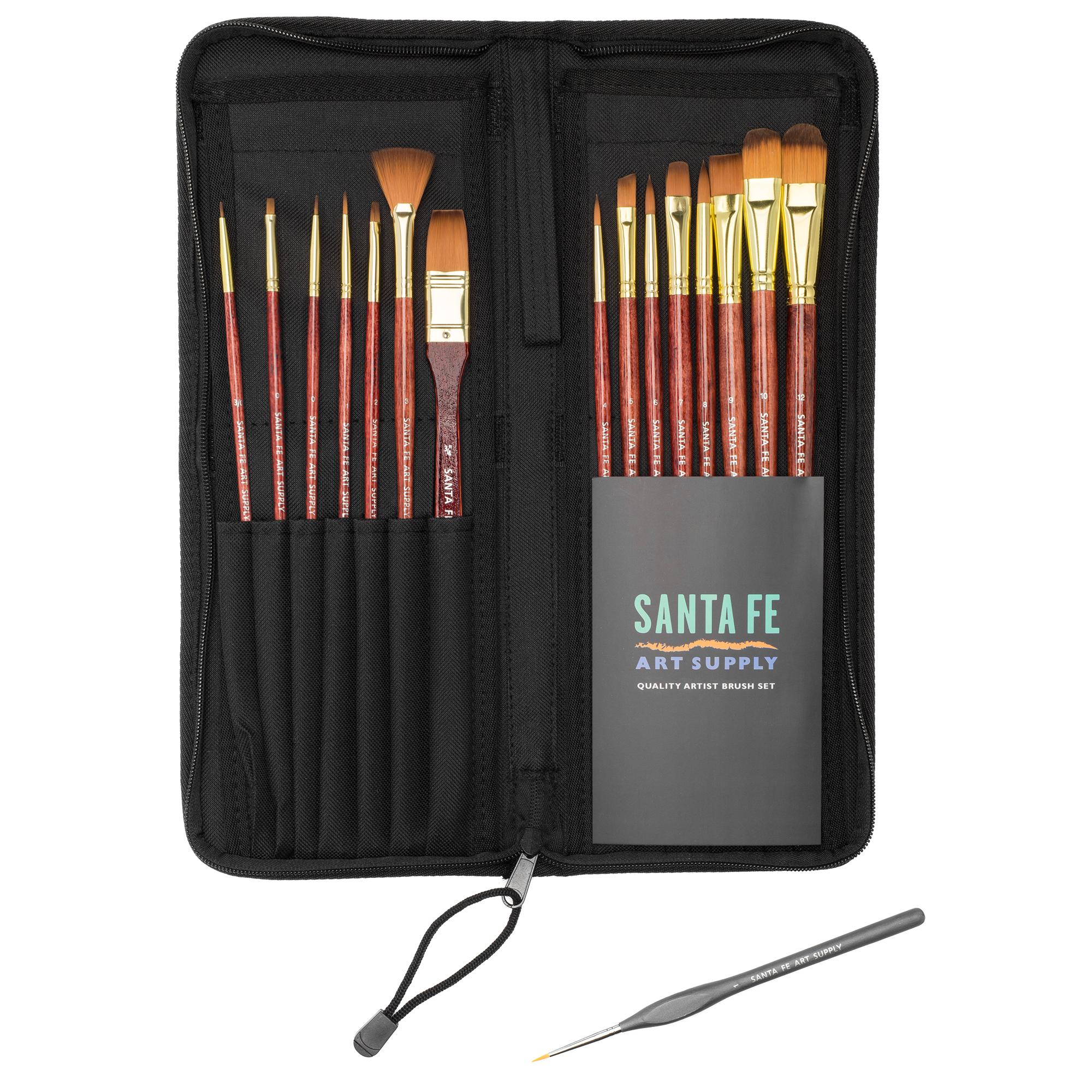 5 Santa Fe Art Supply Artist Brush Set