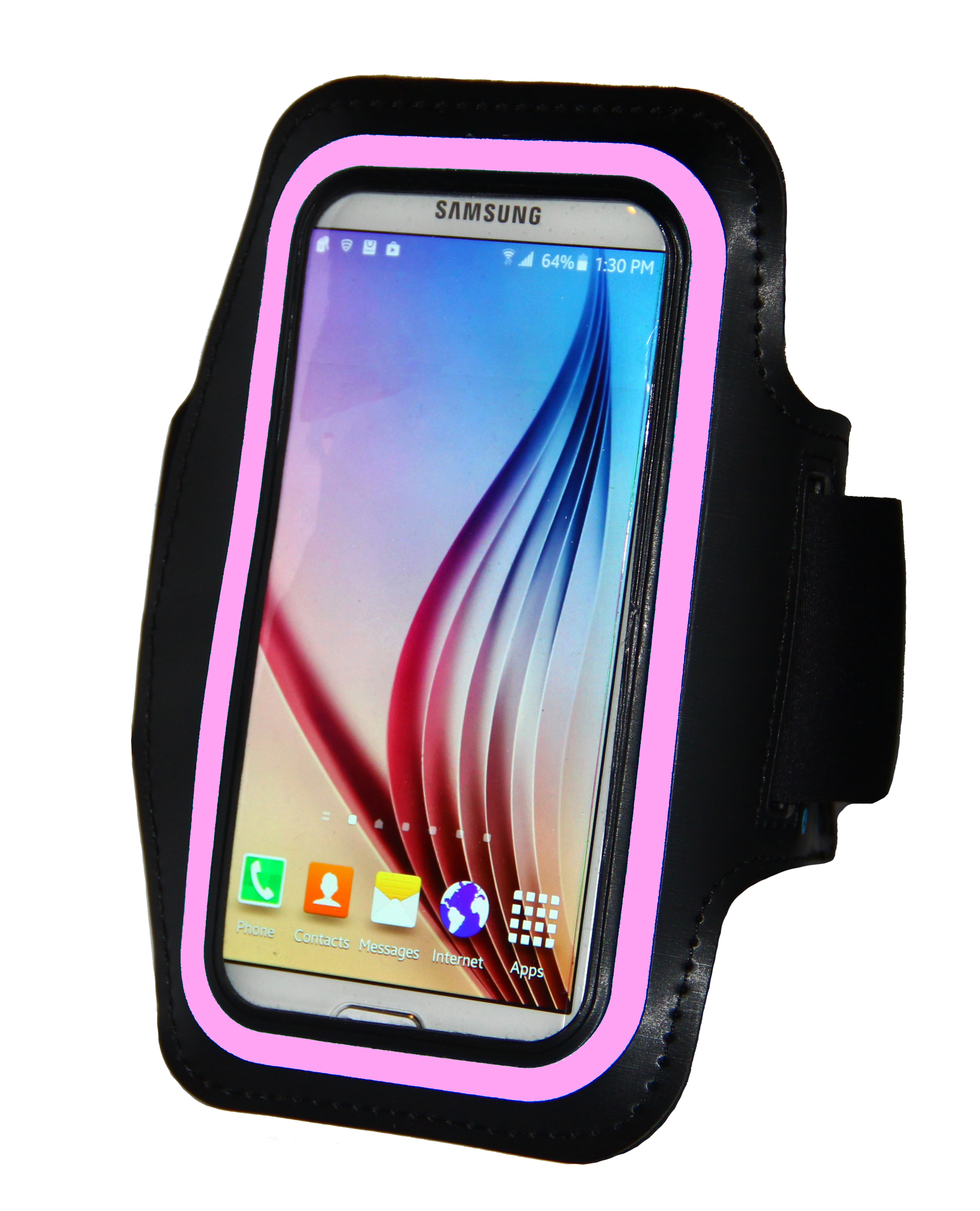 Sport Armband for Galaxy S6 w/Pink Reflector #s6pinkarmband