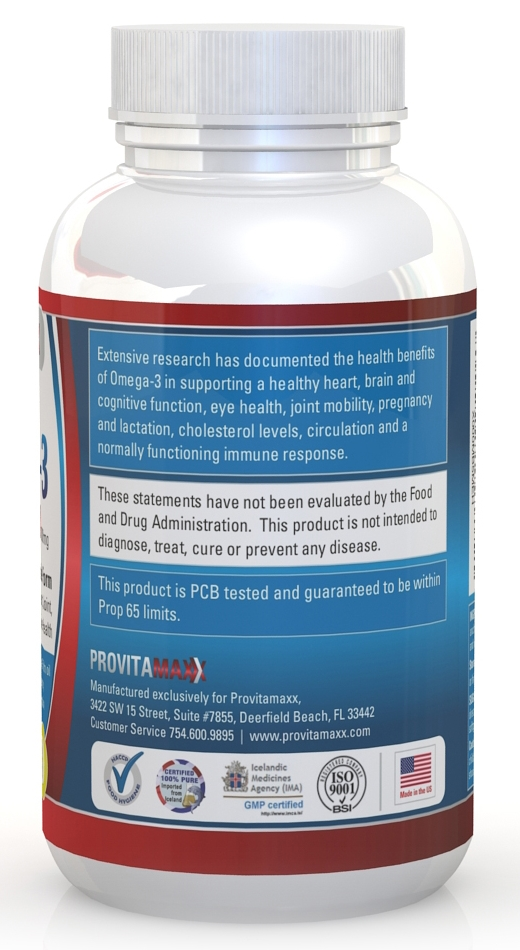Provitamaxx omega 3 fish oil review giveaway for Daily recommended fish oil