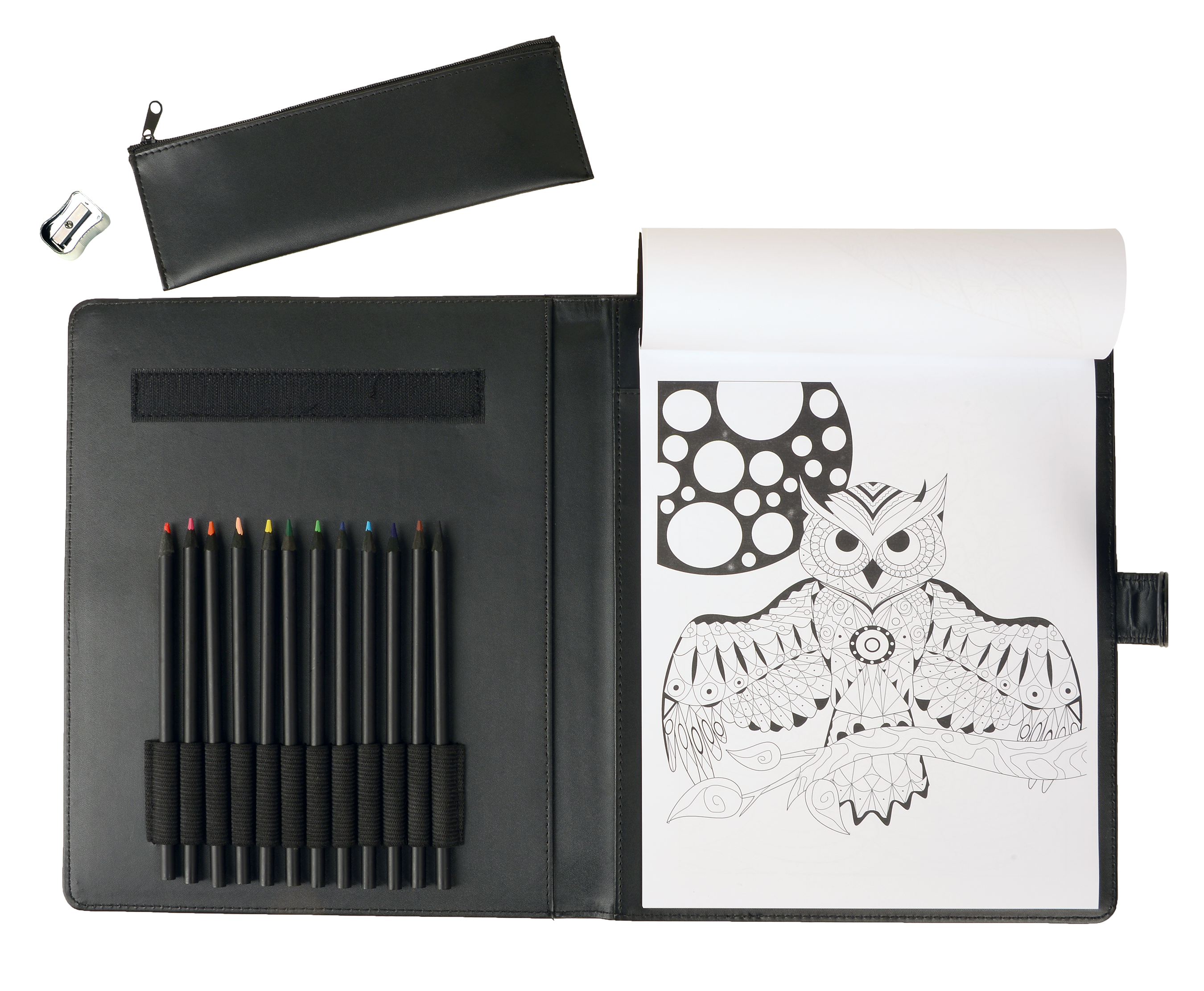 Complete Adult Coloring Book Kit by Life in Coloring (now with upgraded pencils!)