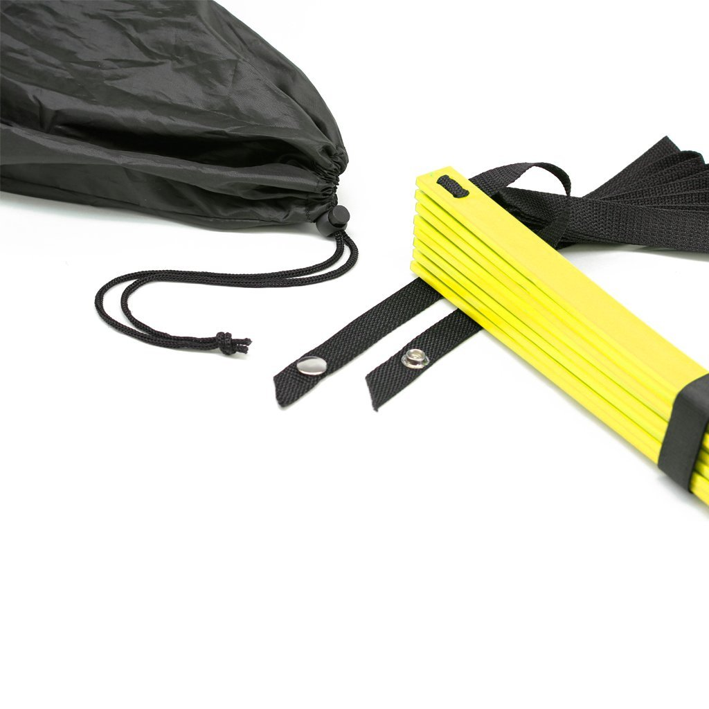 Ohuhu twelve rung agility ladder with black carry case