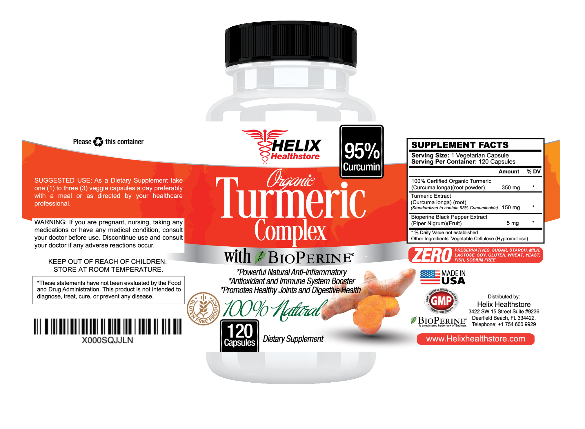 Turmeric and Multiple Sclerosis #Helixhealthstore