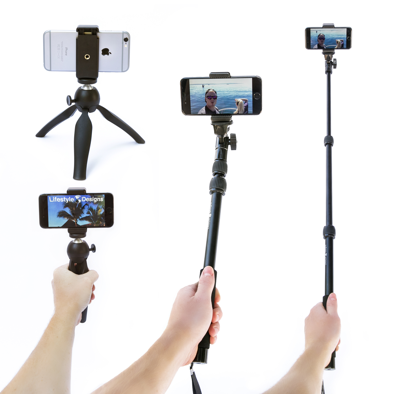 hd gopro selfie stick with tripod snapchat remote. Black Bedroom Furniture Sets. Home Design Ideas