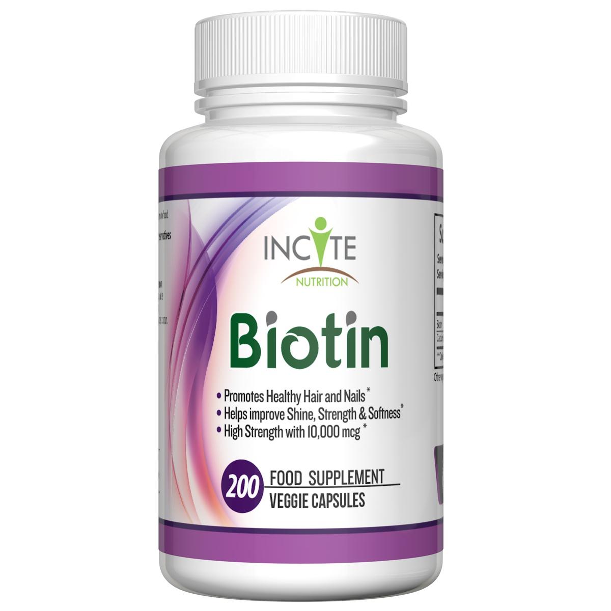 Biotin Hair & Nail Vitamin by #incitenutrition