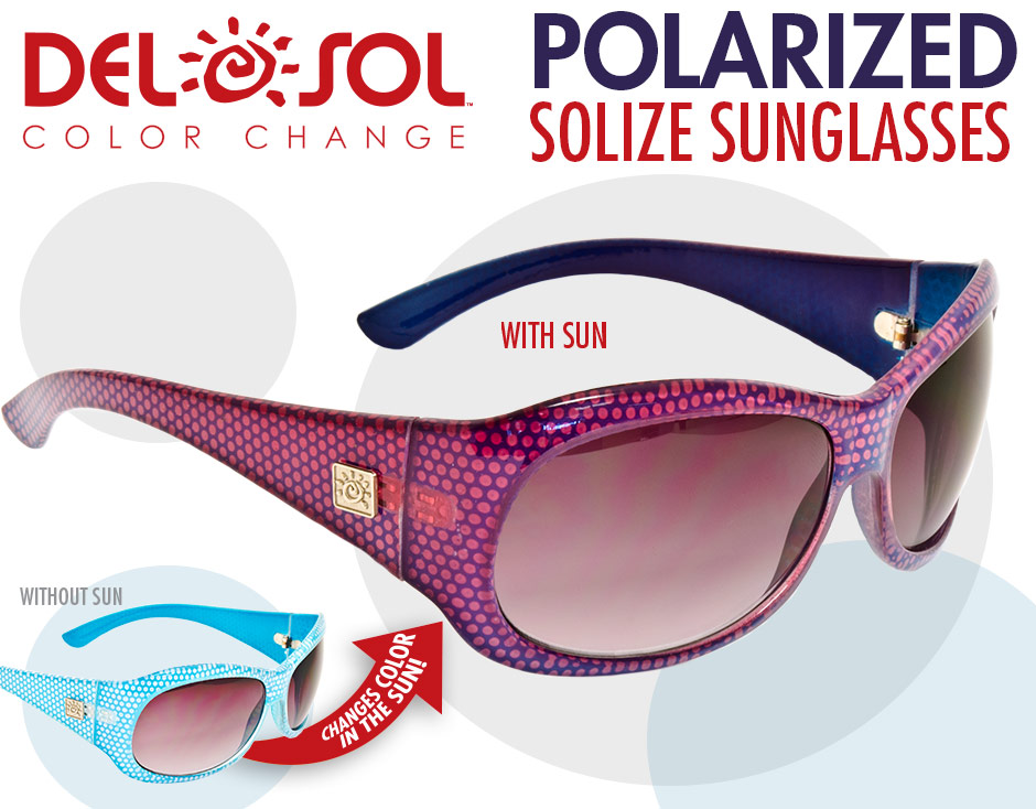bd16c561c5 I had the opportunity to receive Del Sol Color-Changing Polarized Solize  Sunglasses in return for my unbiased review. These are really nice